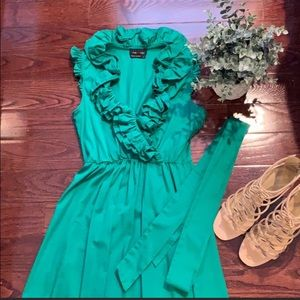 MAX AND CLEO Ruffled Fit and Flare Dress